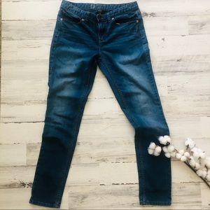 Blue Denim Skinny Jeans Mossimo Size 10